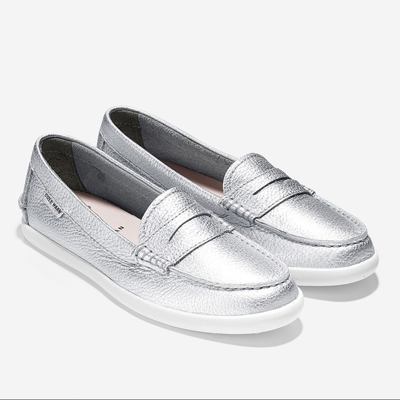 927284547f2 Cole Haan Pinch Weekender Penny Loafer Silver 9.5